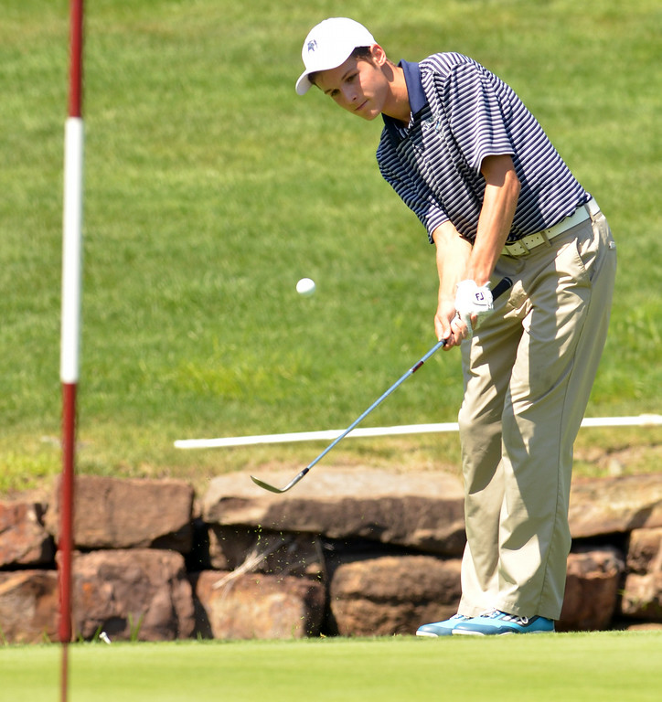 Description of . Andrew Lombardo of North Penn.  Monday,  August 25, 2014.   Photo by Geoff Patton
