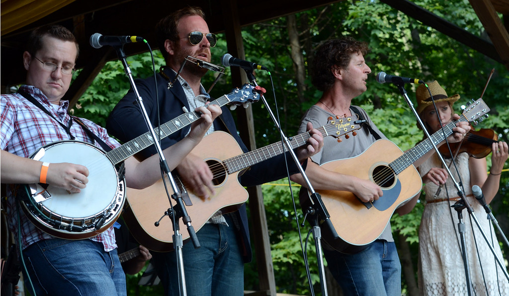 Description of . The John Byrne Band performs during an afternoon concert at the 53rd Annual Philadelphia Folk Festival on Sunday August 17,2014. Photo by Mark C Psoras/The Reporter