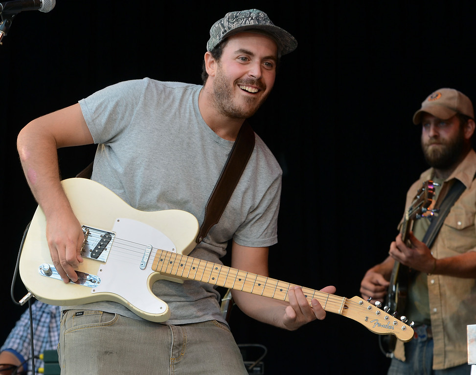 . The Wallace Brothers band performs during an afternoon concert at the 53rd Annual Philadelphia Folk Festival on Friday August 15,2014. Photo by Mark C Psoras/The Reporter
