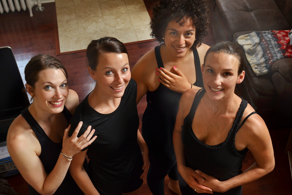 . Dancers, from left, Sarena Kabakoff, Brittany Lynch, Velle Alvarez, and Chrissie Leach.   Friday, June 13, 2014.   PHoto by Geoff Patton