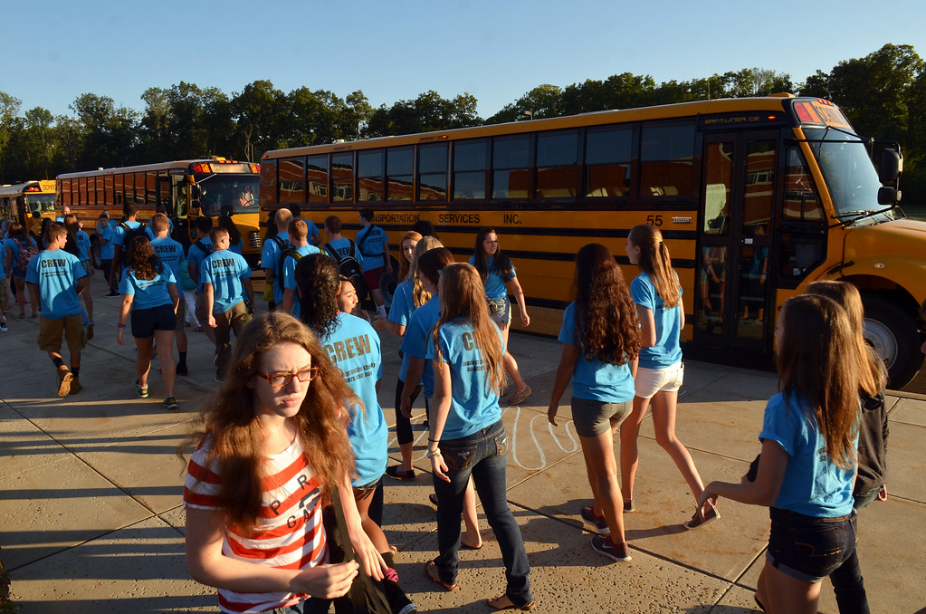 . First day of school at Souderton Area High School.     Monday, August 25, 2015.   Photo by Geoff Patton